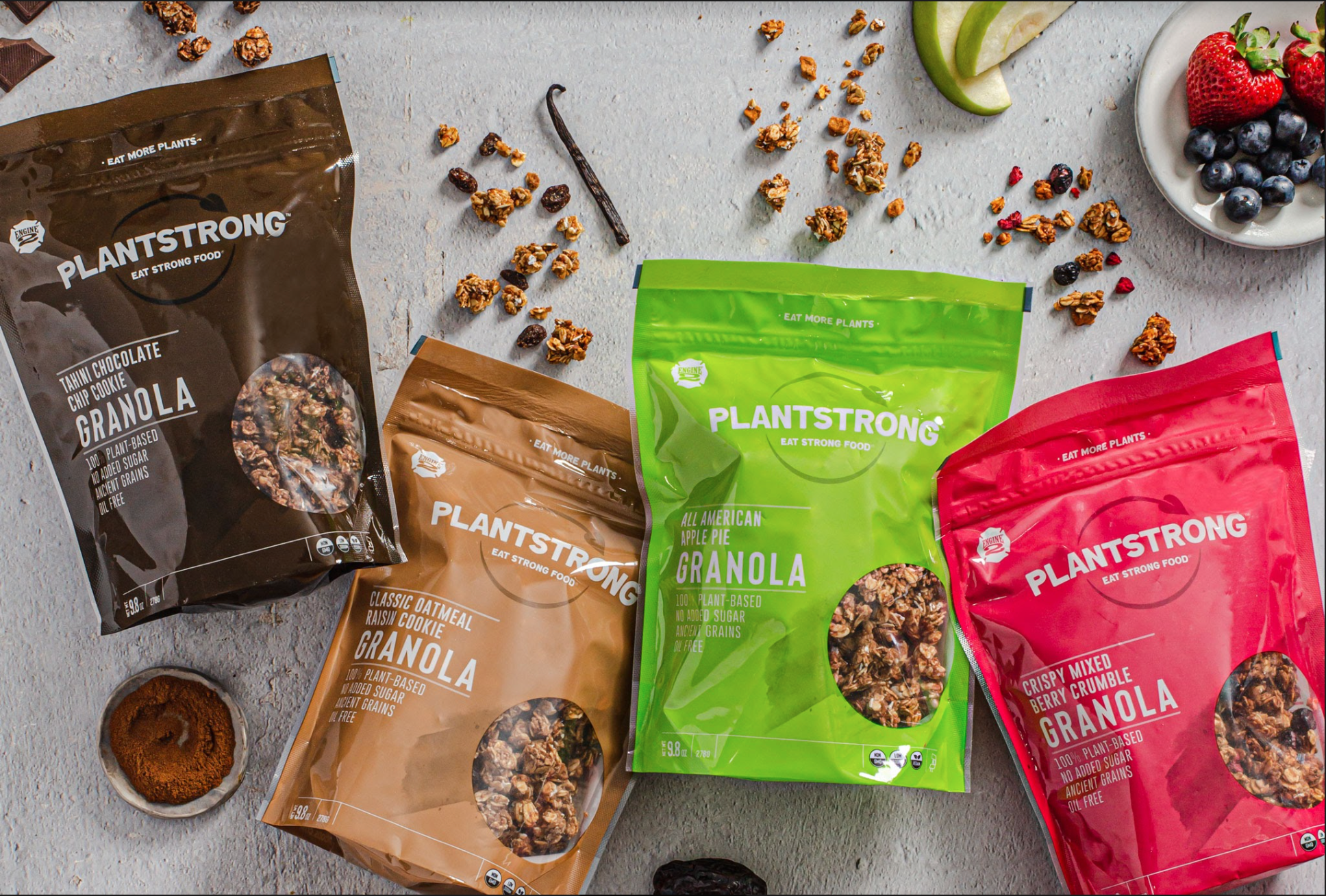 Introducing the all new PLANTSTRONG Foods