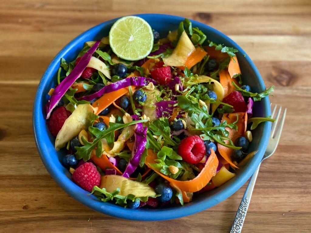Rainbow Ribbon Salad